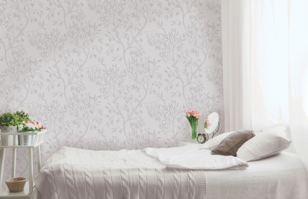 Holden Decor Eden Bloom Grey Tree 35540 Wallpaper
